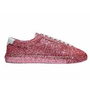 SAINT LAURENT Pink Glitter Sneakers NIB (RESERVED)